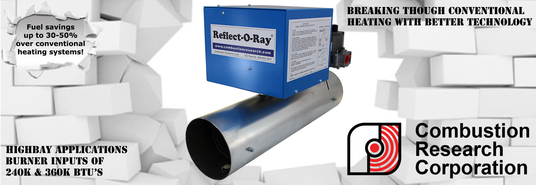 High Bay Radiant Infrared Gas Fired Heaters