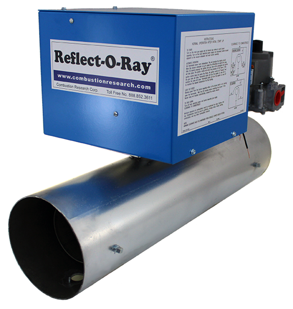 Reflect-O-Ray 6.0 EDS - Dual Input - Gas Fired Radiant Heater - Powder Coated