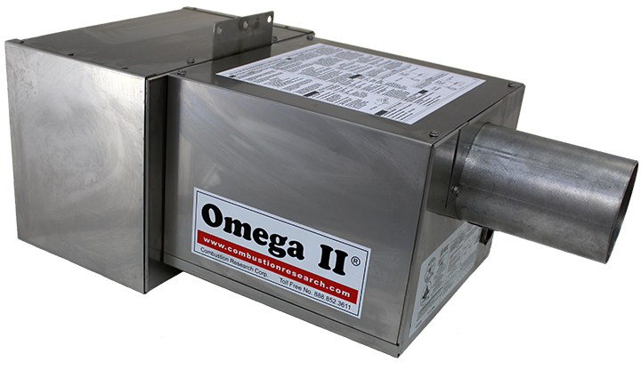 Omega II DI PEP - Stainless Steel – 45 view – Combustion end forward