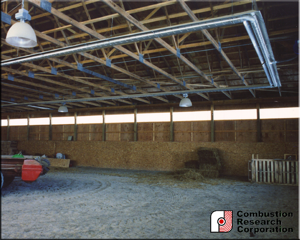 Radiant Infrared Heat for Barn Applications