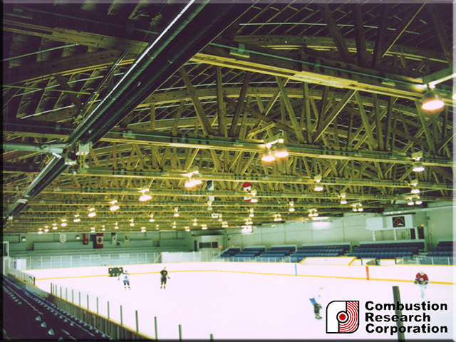Gas Fired Radiant Infrared Heat for Ice Arena