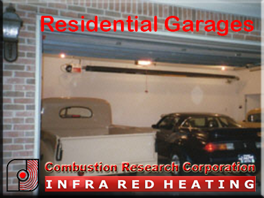 Residential Garage with a Radiant Infrared Heater