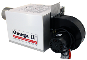Omega II DI PEP - Powder Coated – 45 view – Fan forward
