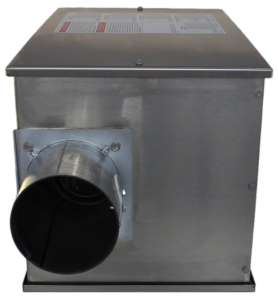 Reflect-O-Ray 4.C EDS - Gas Fired Radiant Heater - Stainless Steel - side view – combustion side view - CNG and special fuel facility rated