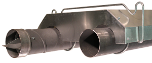 Radiant tube package – U configuration – Combustion and Exhaust view